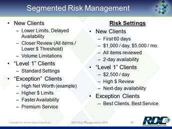 RDC Risk Management in 2016