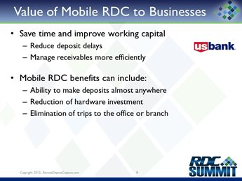 Implementing Business Mobile RDC – Lessons Learned and Outcomes